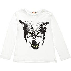 MSGM - Boys Ivory Cotton Wolf T-Shirt