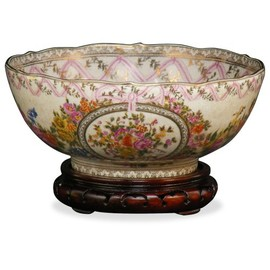 ChinaFurnitureOnline - Chinese Decorative Porcelain Basin - Canton Rose