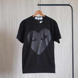 PLAY COMME des GARCONS - 綿天竺プリント T-Shirt #black