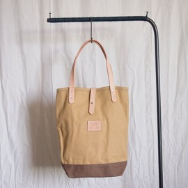 HERITAGE LEATHER CO. - Book Tote #tan×brown