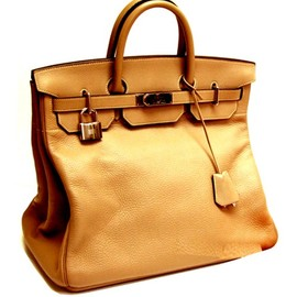 "Hermes - ""Haut à Courroies"" Bag, Togo Veal Leather"
