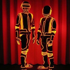 Daft Punk - EL Wire suits for Daft Punk