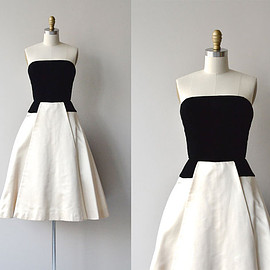Tuxedo Park dress • vintage 1950s dress • 50s strapless party dress