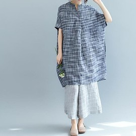 dress - shirt dress, linen dress, Women Oversized dress, summer sundress, Loose maternity dress