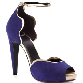 PIERRE HARDY - Blue Peep Toe Pump
