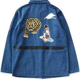 TOGA ODDS&ENDS - Print Denim Jacket (blue)