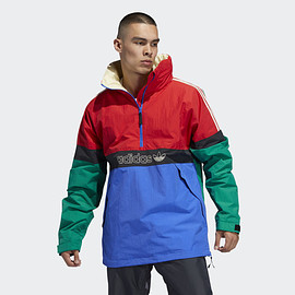 adidas - BB Snowbreaker Jacket - Bold Green/Power Red/Hi-Res Blue/Carbon