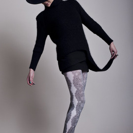 FAKUI - LACE TIGHTS [white]
