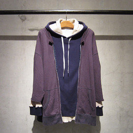 "SASQUATCHfabrix., SUNSEA, UNEVEN - ""TRIANGLE PROJECT"" WIDE BROKEN 3WAY PARKA 2011AW"
