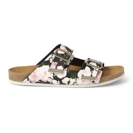 GIVENCHY - Givenchy Swiss Sandals in Roses Print Leather