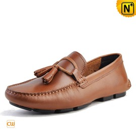 CWMALLS - Mens Tasseled Leather Penny Loafers CW740315