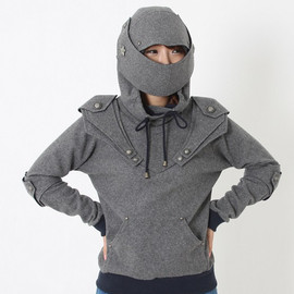 catchpegasus - Lucifer Armored Knight  Medieval Armor Pullover Hoodie(100% Handmade Wool) Made To Order