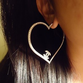 CHANEL - heart hoops♡cute