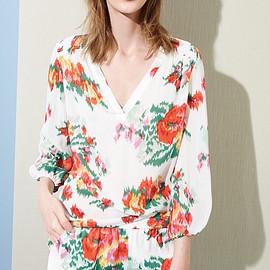 Joie - Joie Axcel Floral Print Silk Blouse