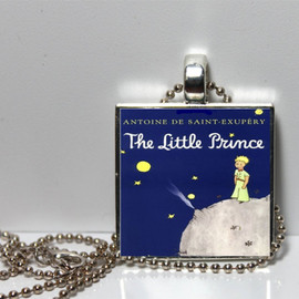 Pendantmonium - The Little Prince by Antoine De Saint-Exupery Square Tile Pendant Necklace SALE