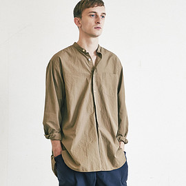 COMOLI - band collar shirts