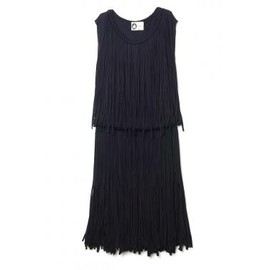 LANVIN - Sleeveless Fringe Dress