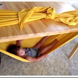 Under the table hammock!