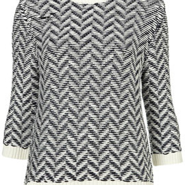 TOPSHOP - Zigzag Knit Jumper By Boutique