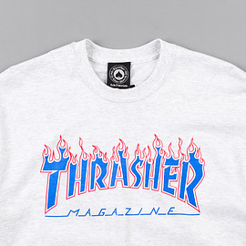 Thrasher - Patriot Flame T-Shirt - Ash Grey