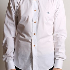 Vivienne Westwood - MAN Button Down Krall Shirt in White