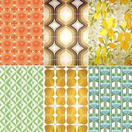 Many Brands - Vintage Wallpaper from 1960-70's Holland,England etc...