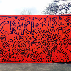 new york city - The Crack is Wack mural by Keith Haring