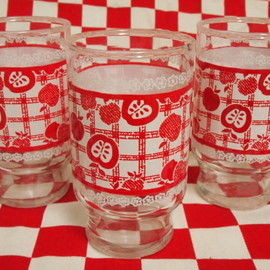 Fire King - Anchor Hocking Red Apple Tumbler (S)