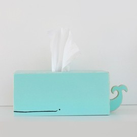 gnomesweeeetgnome - Whale Tissue Holder - Light Blue