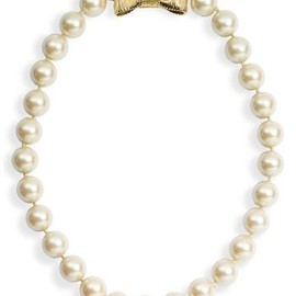 kate spade NEW YORK - kate spade new york 'all wrapped up' glass pearl short necklace