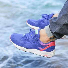 PUMA - PUMA R698 SPLATTER MAZARINE BLUE/TEABERRY RED