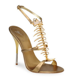 GIUSEPPE ZANOTTI - The fishbone-shaped strap ssandals