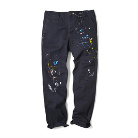 HEAD PORTER PLUS - BASIC CHINO PANTS / PAINT NAVY