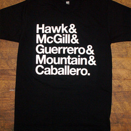 Skate Royaltee t-shirt. Hawk & McGill & Guerrero & Mountain & Caballero
