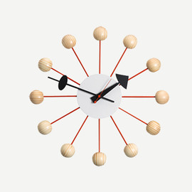 George Nelson - BALL CLOCK SPECIAL EDITION NAT/RED
