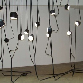 "Bouroullec brothers - ""Liane"" lamps, in brown - Kreo Gallery"