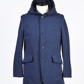 ts(s) - Embossed Dobby Cloth Hooded Long Jacket
