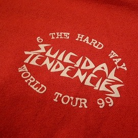 "DOGTOWN - 「<used>'99 DOGTOWN ""SUICIDAL TENDENCIES""TOUR PARKA red""made in USA"" size:L 6800yen」完売"