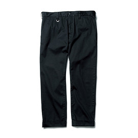 SOPHNET. - TRETCH COTTON ANKLE CUT CHINO PANT BLACK