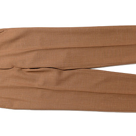 AURALEE - Wool Cupra Linen Cloth Slacks-Brown Check
