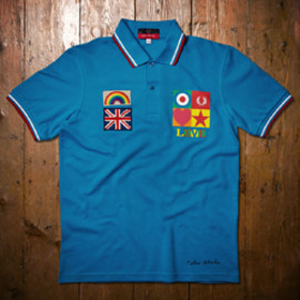 FRED PERRY - Peter Blake Kingfisher Blue Shirt