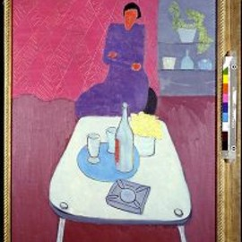 milton avery - still life with woman