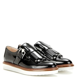 TOD'S - Frangia leather monk shoes