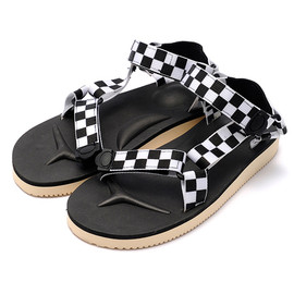 "SUICOKE - Checkered Strap Sandal ""DEPA"" by SUICOKE"