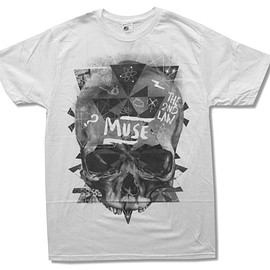 "MUSE - Adult Muse ""Washed Out Skull"" White Slim Fit T-Shirt"