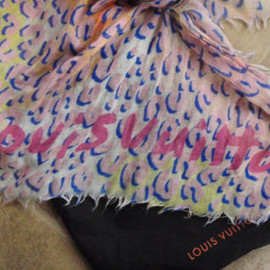 LOUIS VUITTON - Leopard Spray Rose Shawl Scarf Stole