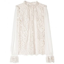 DOLCE&GABBANA - SHEER LACE BLOUSE