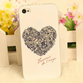 Sweet Romantic Floral Heart Print Phone Case for iPhone4/4s/5/5s