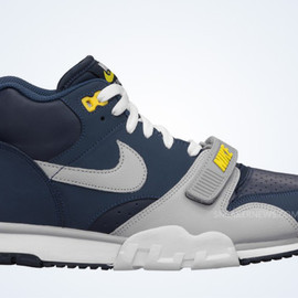 Nike - Air Trainer 1 Premium - Midnight Navy/Wolf Grey/Obsidian/Tour Yellow