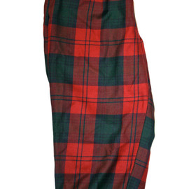 VINTAGE - Vintage Red / Green Plaid Golfing Pants Size 36